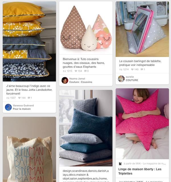 inspirations projet couture coussins doux