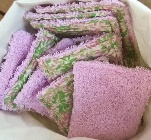 Lingettes lavables et vide poche