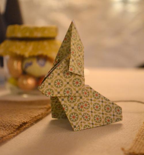 baptême - déco lapin origami
